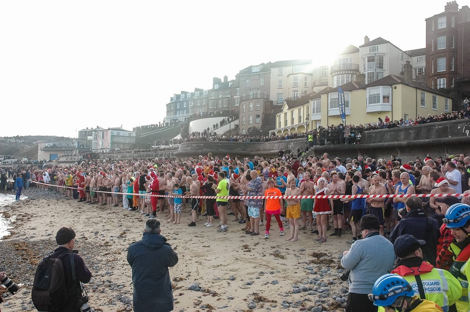 Cromer Boxing Day Dip, The Promenade, Cromer, Norfolk, NR27 9HW | The event of the year and one that you've all been waiting for. Organised by North Norfolk Beach Runners this event is firmly fixed in the Christmas Calendar. | swimming, dip, boxing, day, christmas, cromer, north norfolk coast, charity, RNLI, fundraiser, fund, raising